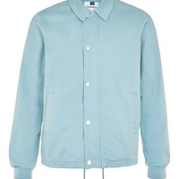 Light Blue Cotton Coach Jacket - Topman