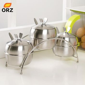 ORZ 7Pcs/Set Kitchen Spice Containers
