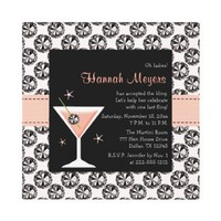 Diamonds Martini Bachelorette Party Invitations from Zazzle.com