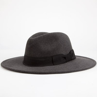 Straight Brim Womens Fedora Charcoal One Size For Women 24941211001