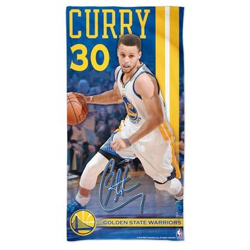"STEPHEN CURRY #30 GOLDEN STATE WARRIORS 30""X60"" FIBER REACTIVE BEACH TOWEL NEW"