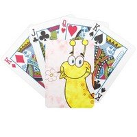 Artistic Aqua Animal Snail holding flower design Bicycle Playing Cards
