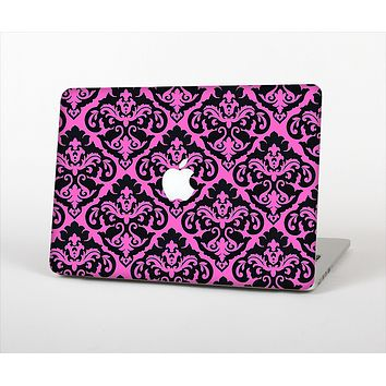 "The Pink & Black Delicate Pattern Skin Set for the Apple MacBook Pro 13"" with Retina Display"