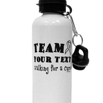 Personalized Team -Name- Walking for a Cure Aluminum 600ml Water Bottle