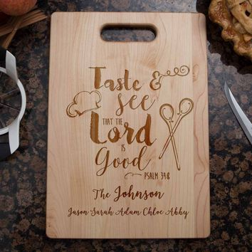 Bible Verse Cutting Board | Taste and See