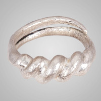 Fantastic Ancient Viking  Wedding Band Jewelry C.866-1067A.D. Size 10 1/2  (20.5mm)(Brr668)