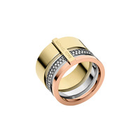 Tricolor Pave Barrel Ring - Michael Kors