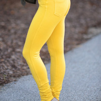 Perfect Fit Jeggings Mustard