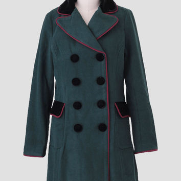 Gentry Velvet Detail Coat By Kling
