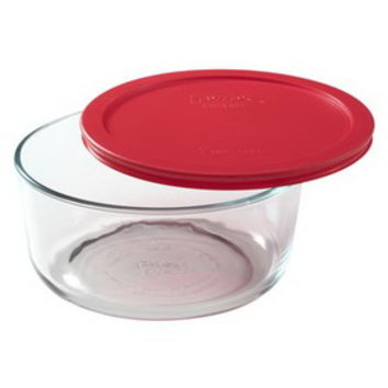 Opentip.com: PYREX 1075429 Simply Store 7 Cup Round Dish w/ Red Lid