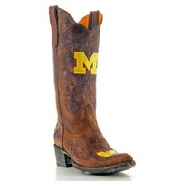 "Gameday Boots 13"" Leather Michigan Cowboy Boots"