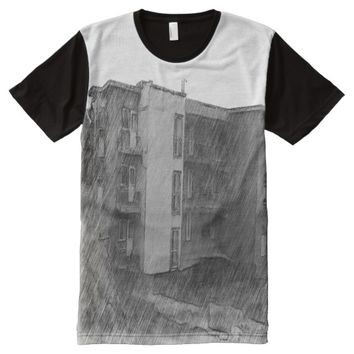 Apartment Building All-Over-Print T-Shirt