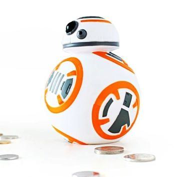 Star Wars Force Episode 1 2 3 4 5 14cm  Cute BB8 BB-8 Coin Bank Piggy Bank Toy Money Saving Box Money box Action Figure Toy For Kids The Halloween gift AT_72_6