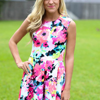 Bright in Lights Floral Dress