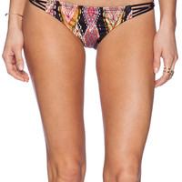 PILYQ Braided Teeny Bikini Bottom in Black