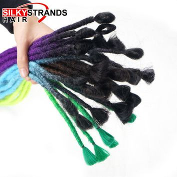 Silky Strands Crochet Hair Extensions Handmade Dreadlocks Soft Reggae Ombre