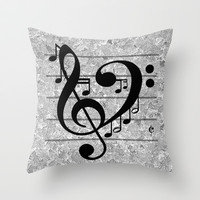 Love Music Throw Pillow by RichCaspian | Society6