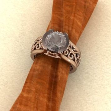 Custom Rose Gold Diamond Ring – designed by Elegant Jewelers