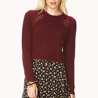Cropped Bouclé Sweater