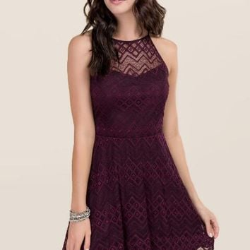 Jacquelyne Lace Halter Dress