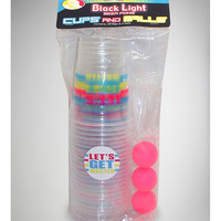 Black Light Wasted Beer Pong Kit