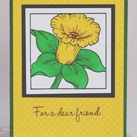 Daffodil Friend Birthday or Just Because Hand Made Card