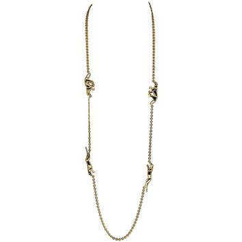 Cartier Panther Long Gold Necklace