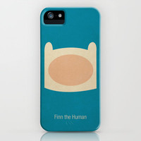 Minimalist Adventure Time Finn iPhone Case by Lalalaokay | Society6