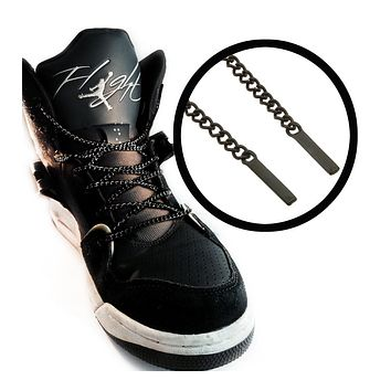42 Inches Charcoal Chain Shoelaces