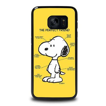 SNOOPY DOG PERFECT FRIEND Samsung Galaxy S7 Edge Case Cover