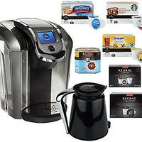 Keurig 2.0 K550 Coffee Maker w/ 42 K-Cup Packs, 8 K-Carafe Packs & Filter — QVC.com