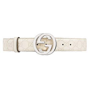 GUCCI - Leather Belt for Men SIGNATURE (114984AA61N1523)