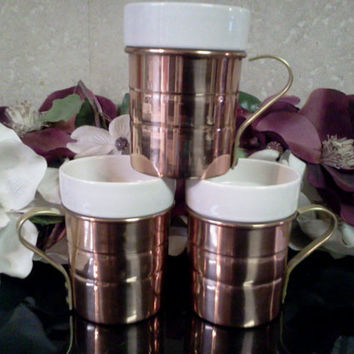 Copper and Ceramic Mugs