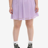 Lavender Fishnet Skirt Plus Size