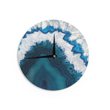 "KESS Original ""Blue Geode"" Nature Photography Wall Clock"