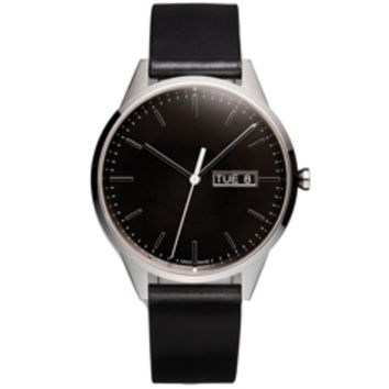 Uniform Wares Day-Date Watch (Black)
