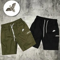 Nike woven cotton pair cargo shorts embroidered AIRMAX casual slacks
