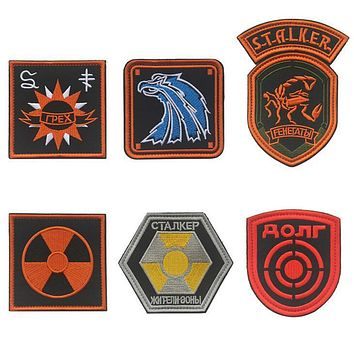 stalker Team Morale Military Embroidery patch STALKER Loners Renegades Shadow of Chernobyl Duty mercenaries Scientists Patch