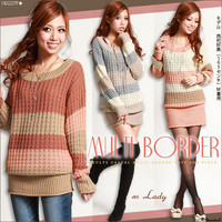 Rakuten: [adult casual ♪ circle Thibault da knit one piece  ] E]It has been had ◆- Shopping Japanese products from Japan