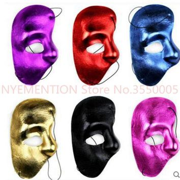 Mask righ Half Face Phantom Of The Night Opera Men Women Masks Masquerade Party Masked Ball masks Halloween festive supplie50pcs