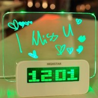 Fluorescent message board alarm clock BBCJE (blue)