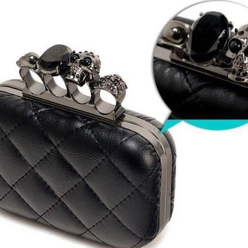 Clutches Evening Bag vintage purse Skull handbags