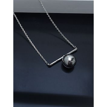 Silver Power and Strength Hardware Necklace Pendant