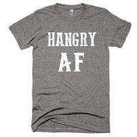 Hungry AF Tee, vintage style, soft t-shirt, festival, funny, t-shirt, tshirt, top, beach, vacation American Apparel