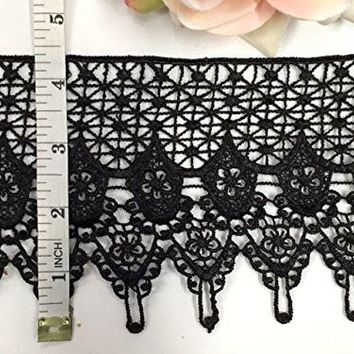 2 Yards, Victorian Scalloped Venise Lace Trim, 4 Inch,