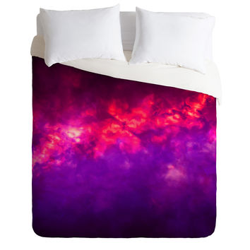 Caleb Troy Painted Clouds Vapors I Duvet Cover