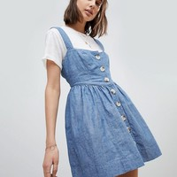 Free People Chambray Buttondown Dress at asos.com