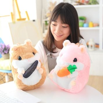 1pc 22cm/32cm Super Cute Hamster Plush Toys Stuffed Animal Hamster Toys Dolls Best Gifts For Kids
