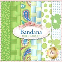 Bandana 6 FQ Set - Hippie Green by Me and My Sister Designs for Moda Fabrics