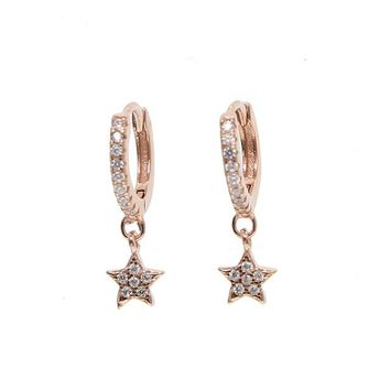 Starlette Drop Earring - Rose Gold